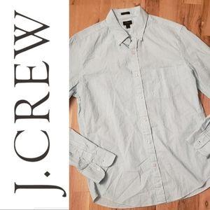 NWT J. Crew Mint Seersucker Silm Fit Shirt